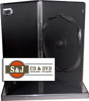 Black DVD Amaray Case - 100 Count Carton
