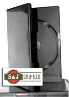 Black Double DVD Amaray Case - 100 Carton