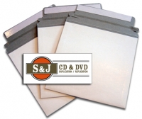 White Cardboard Peel and Seal Mailers - 100 Units